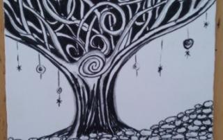 Zentangling calms the mind.