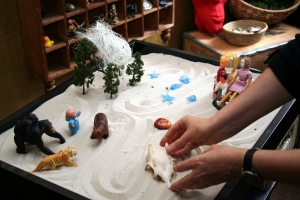 Play therapy sandtray for kids