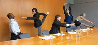 When NOT to do yoga at the office!
